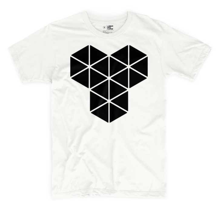 triangle type white shirt