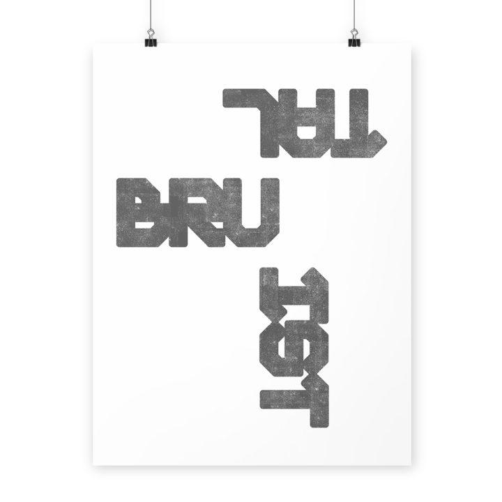 brutalist print