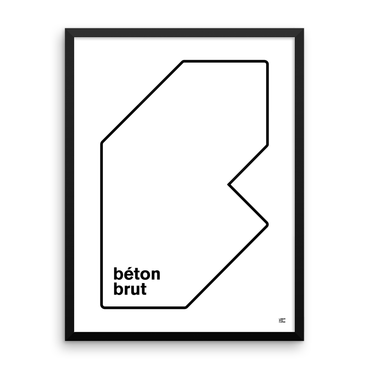 b ton brut poster labor and curse. Black Bedroom Furniture Sets. Home Design Ideas